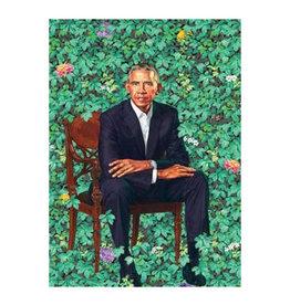Obama Portrait (Leaves) Magnet
