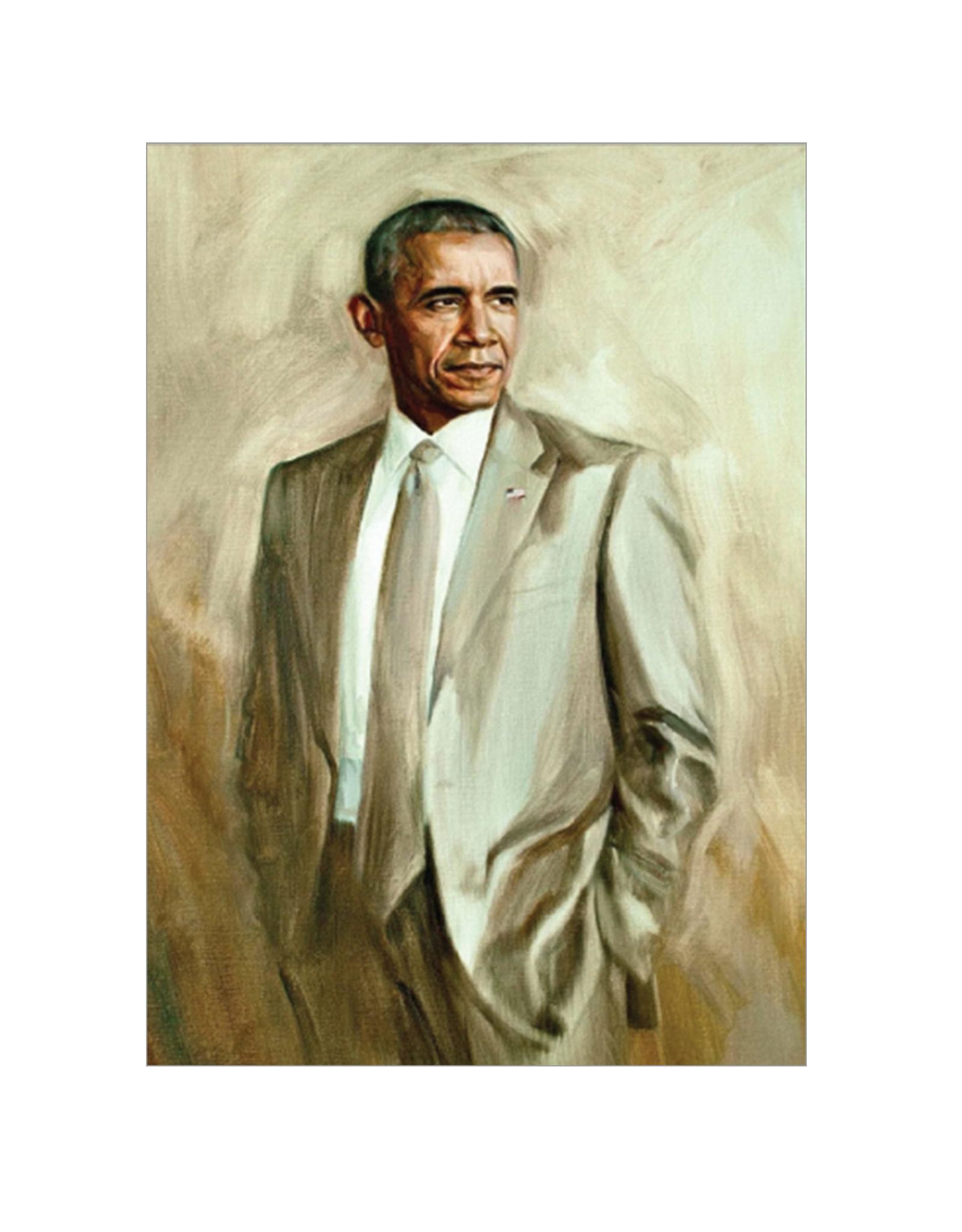 Obama Portrait (tan suit) Magnet