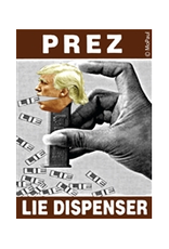 Trump Prez Lie Dispenser Magnet