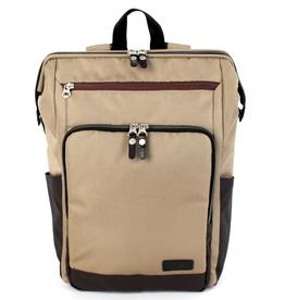Two Tone Gaba City Backpack -  Brown