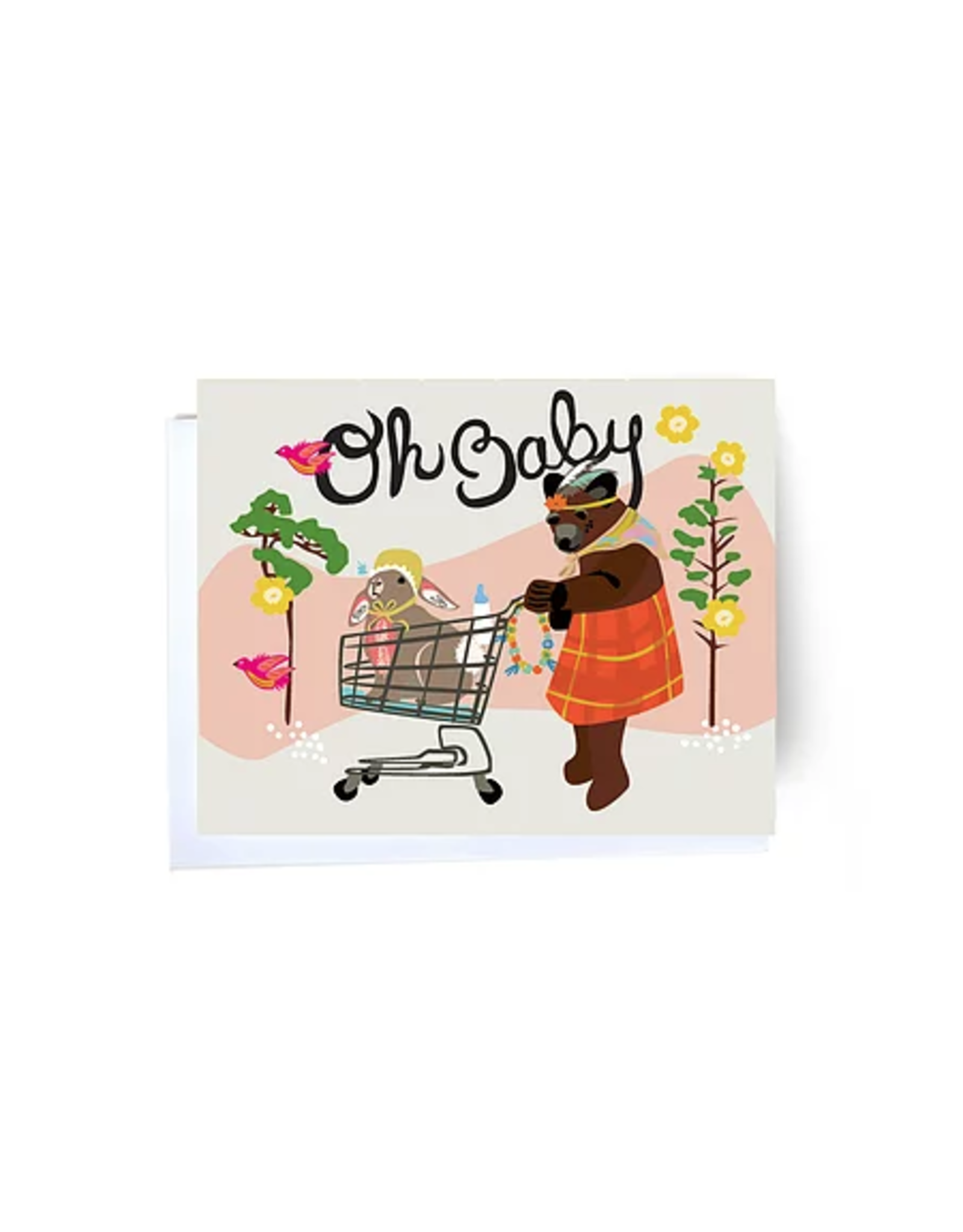 Oh Baby Cart Greeting Card