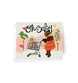 Oh Baby Cart Greeting Card