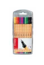 Stabilo Point 88 Wallet Set of 10 Fineline Pens