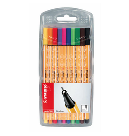 Stabilo Point 88 Wallet Set of 10 Fineline Pens