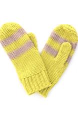 Striped Mitten Pink/Yellow