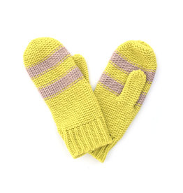 Striped Mitten Pink/Yellow