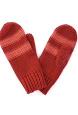 Striped Mitten Red/Pink