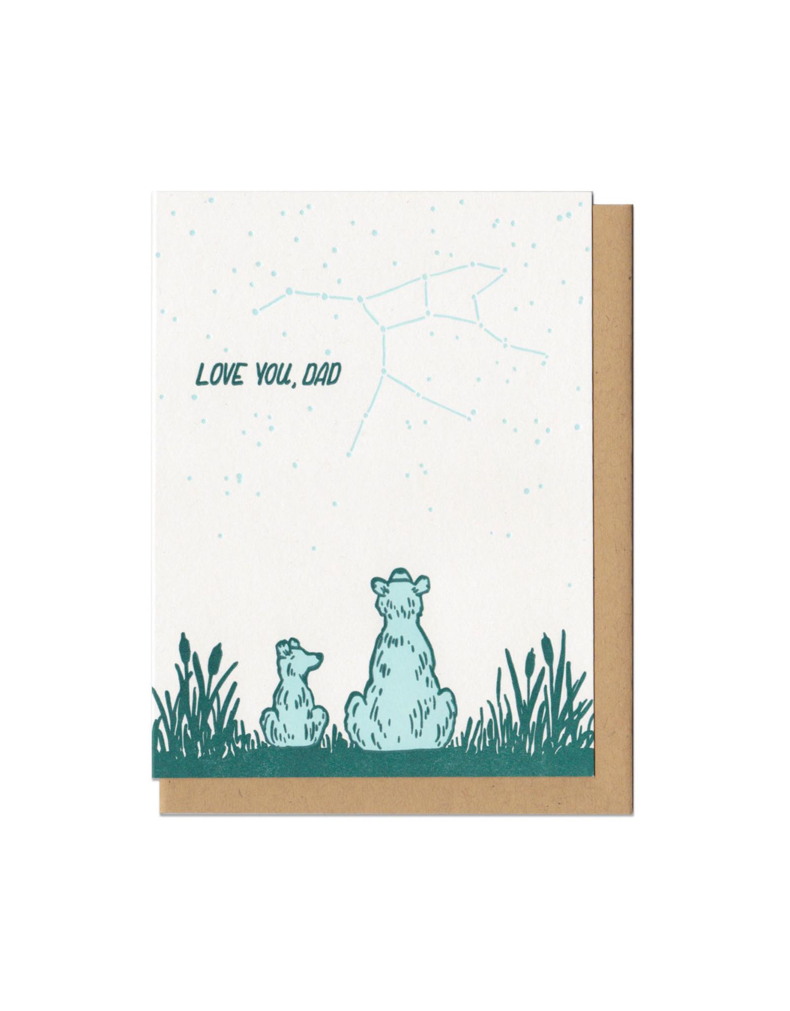 Love You Dad Bears (Green) Greeting Card