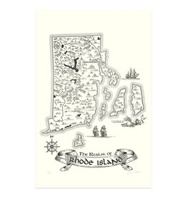 Realm of Rhode Island Letterpress Print - Seconds Sale!