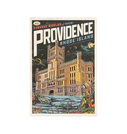 Strange Worlds of When! Postcard - Cranston Street Armory