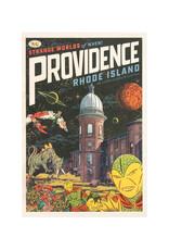 Strange Worlds of When! Postcard - Atlantic Mills