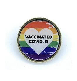 Pride COVID-19 Vaccinated Pin