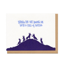 Pack of Wolves (navy) Greeting Card