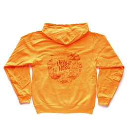 I Love It Here EcoRI Safety Hoodie (Orange) U-L - Seconds Sale