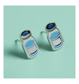 Vaccine Vial Post Earrings