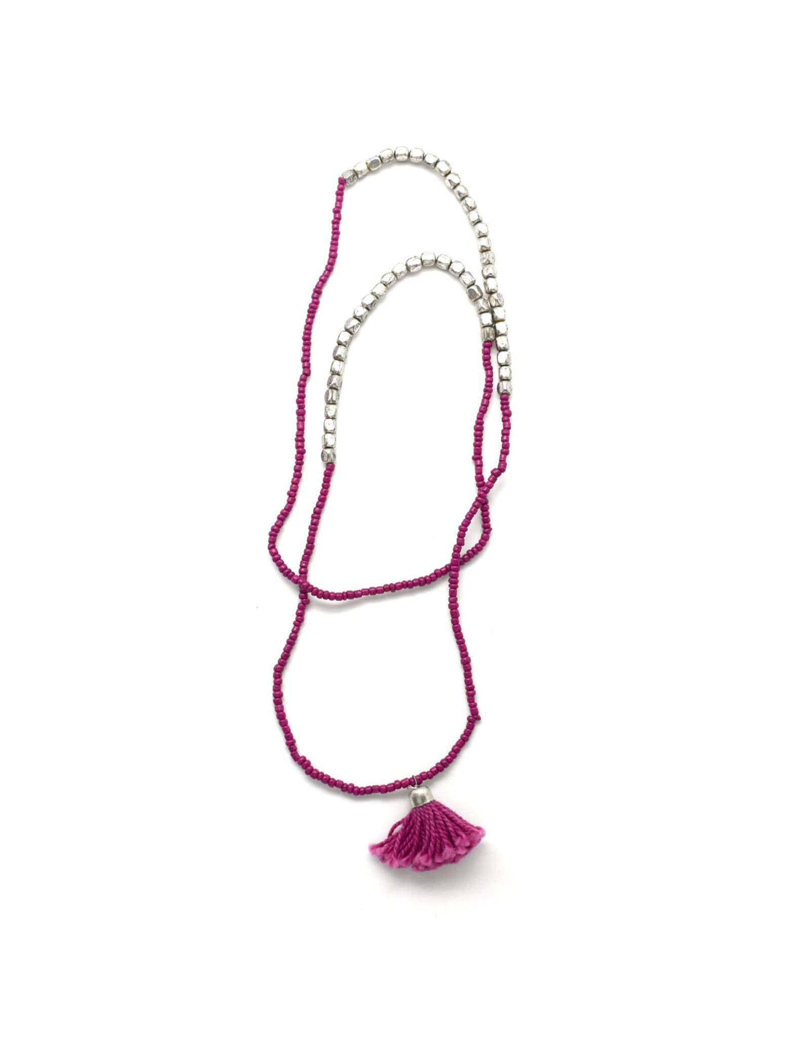 Wanderlust Tassel Necklace/Bracelet : Berry