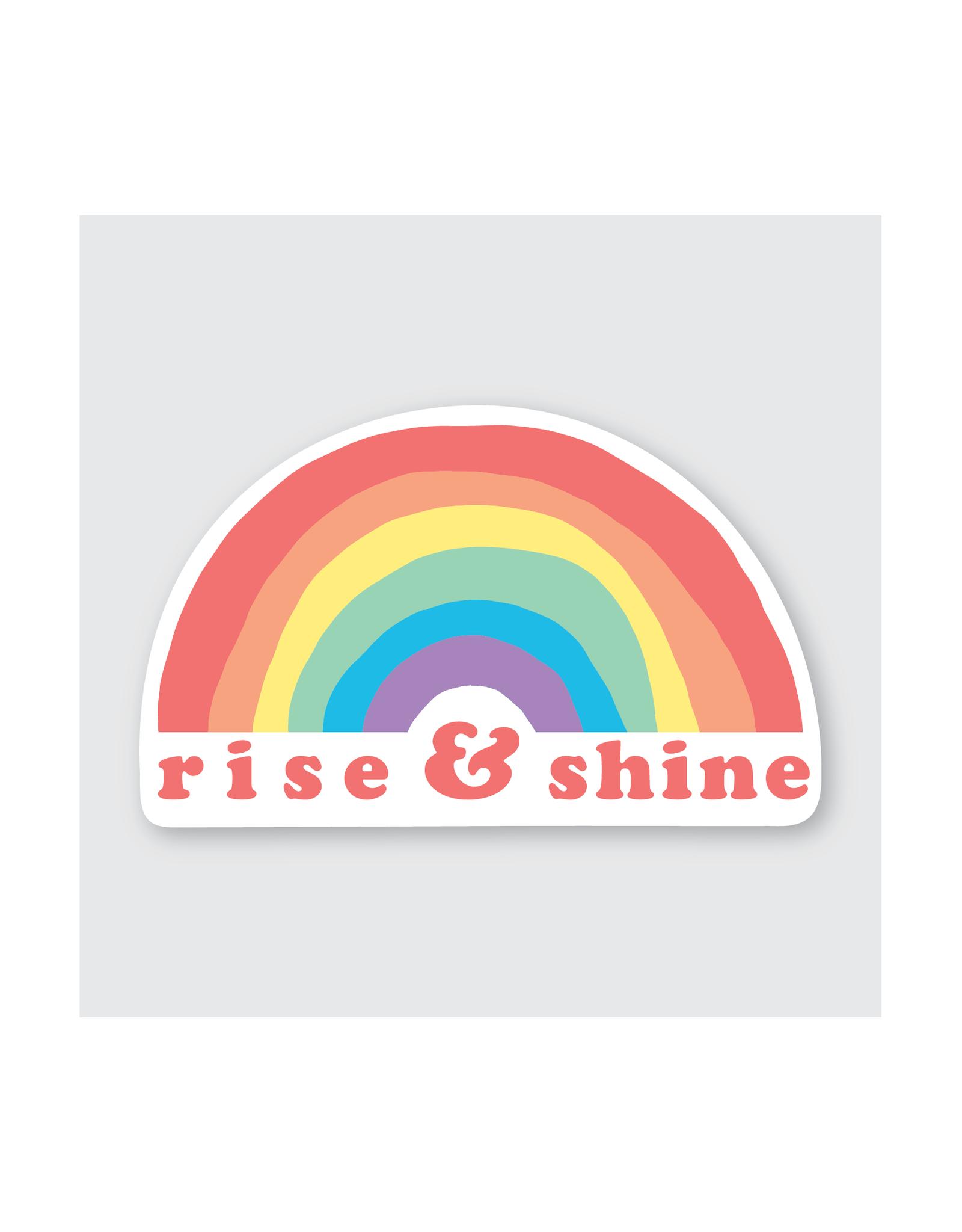 Rise & Shine Rainbow Sticker