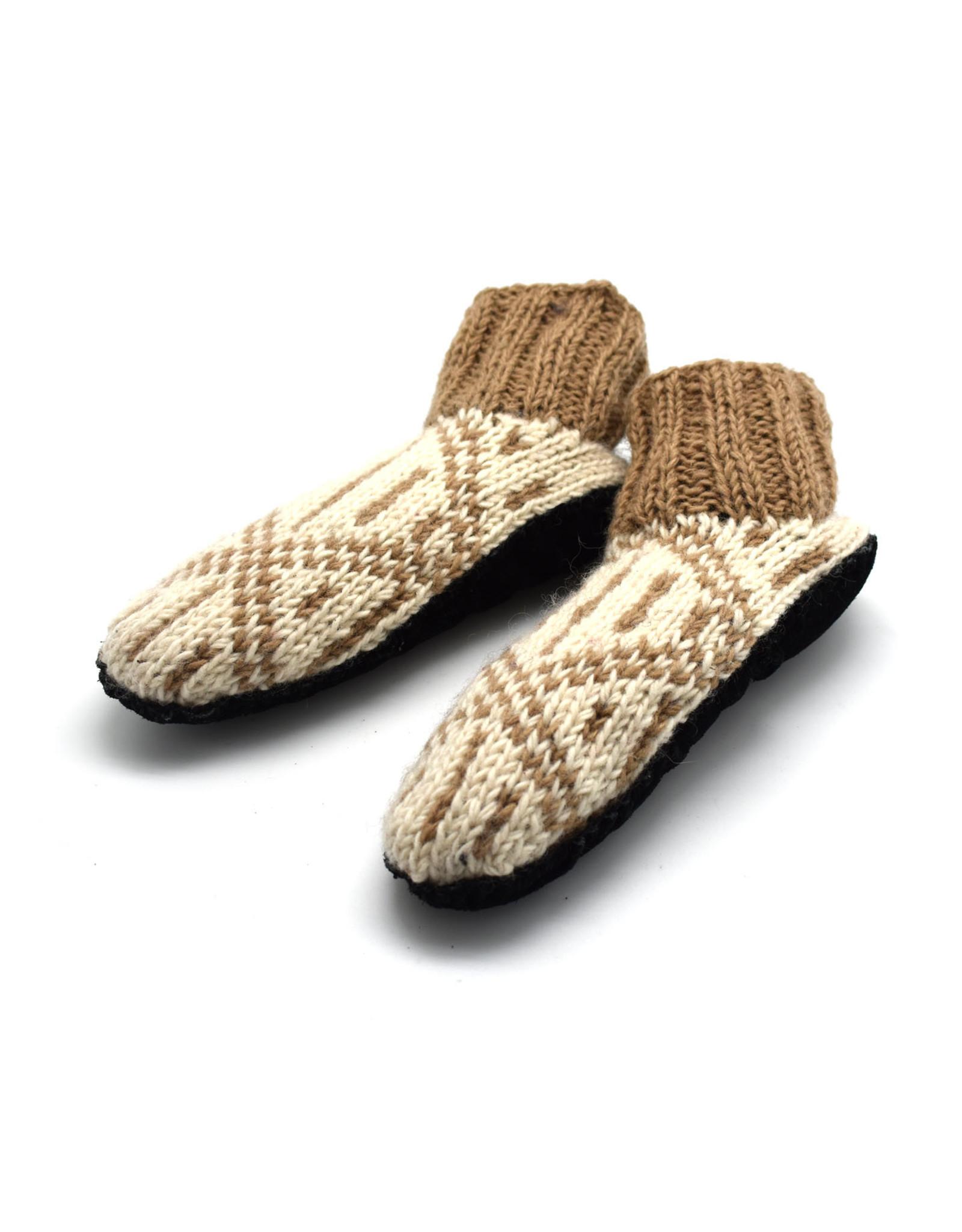 Nima Aztec Booties (Taupe)