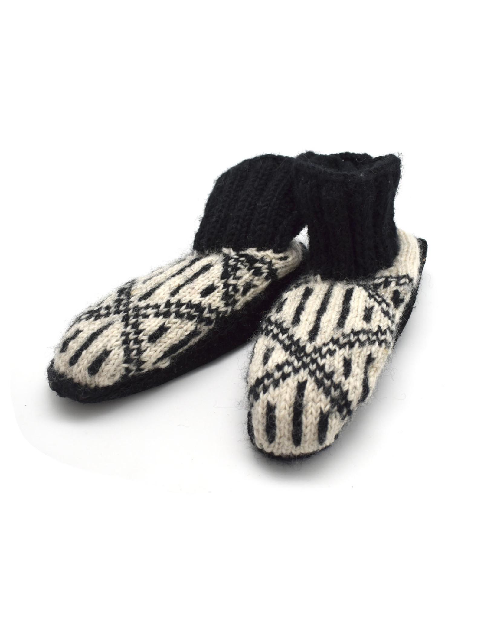 Nima Aztec Booties (Black)