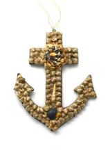 Exquisite Shell Anchor Ornament