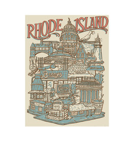 Rhode Island Neighborhoods Print