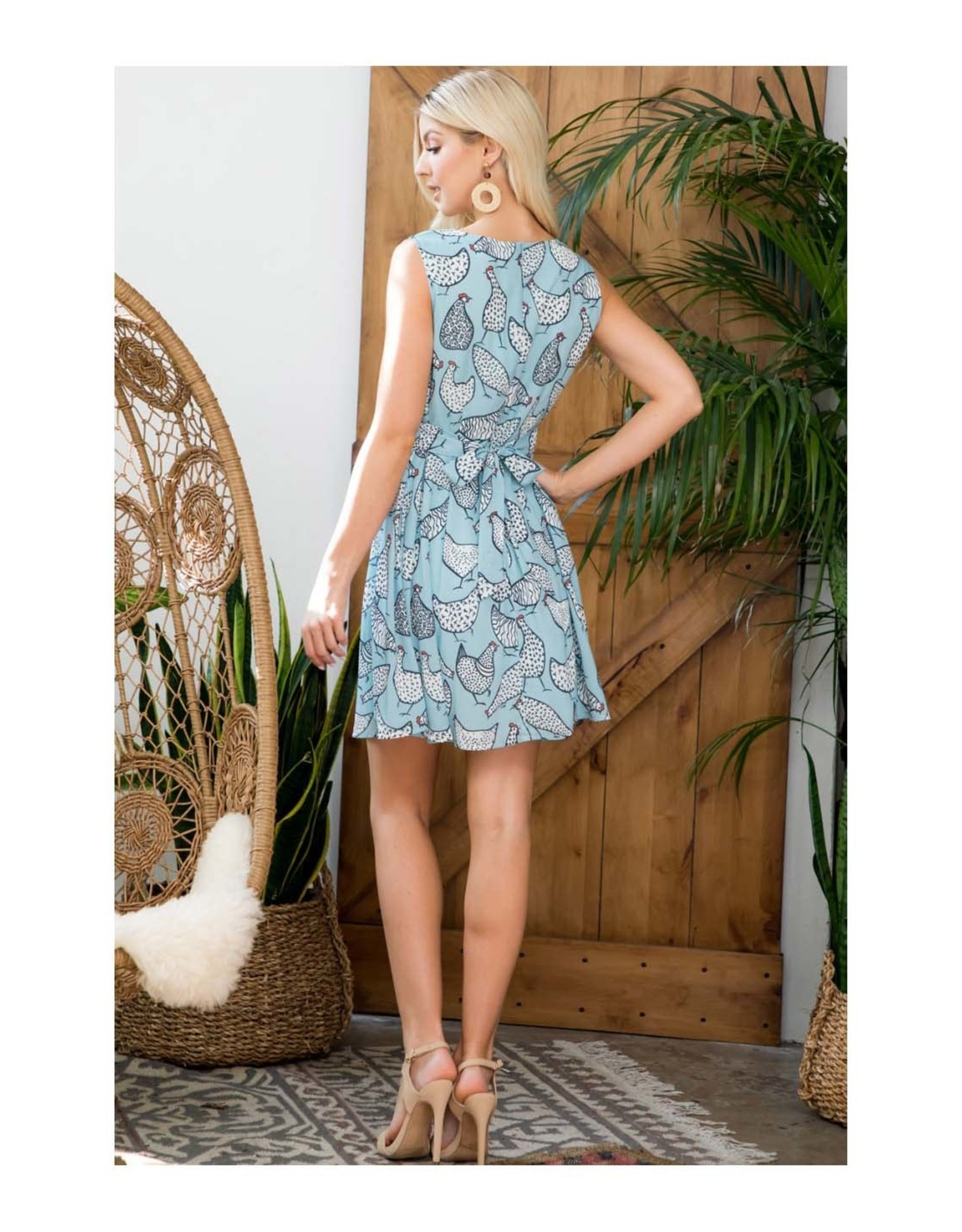 Rooster Dress with Pockets