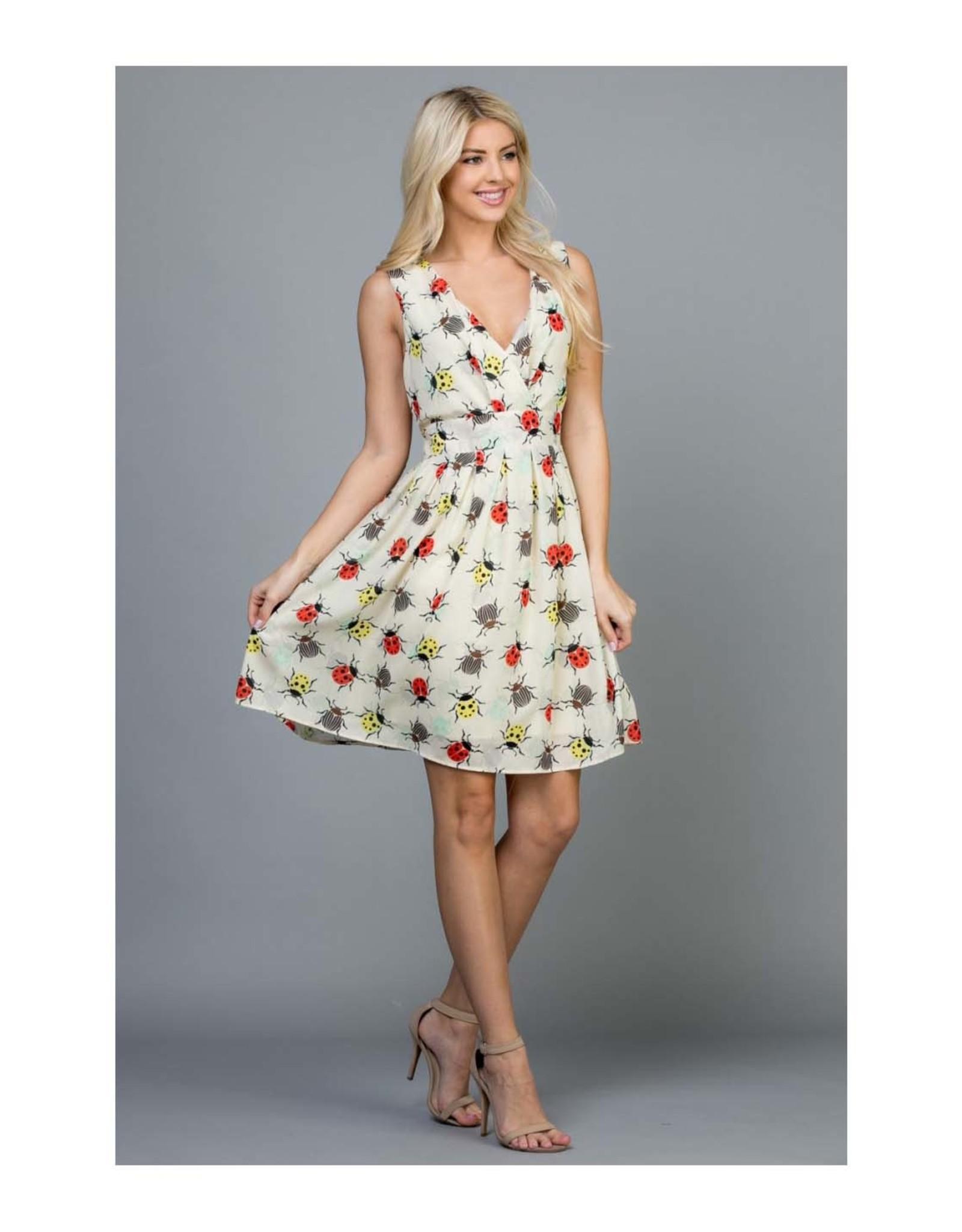 Bugs World V-Neck Dress