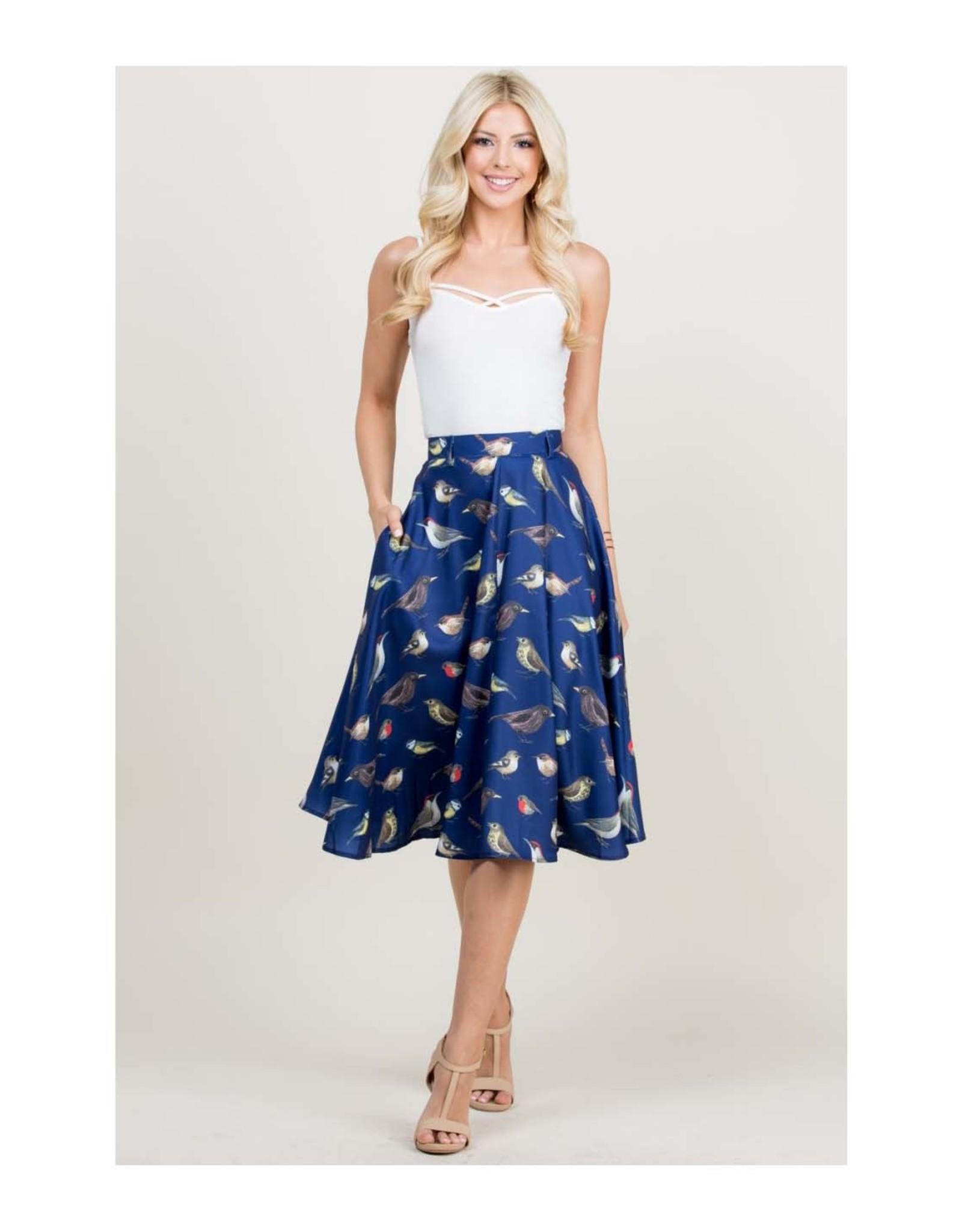 Song Bird Belted Skirt