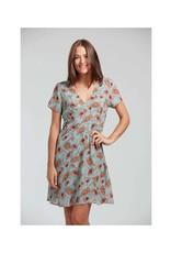 Deep V Floral Dress