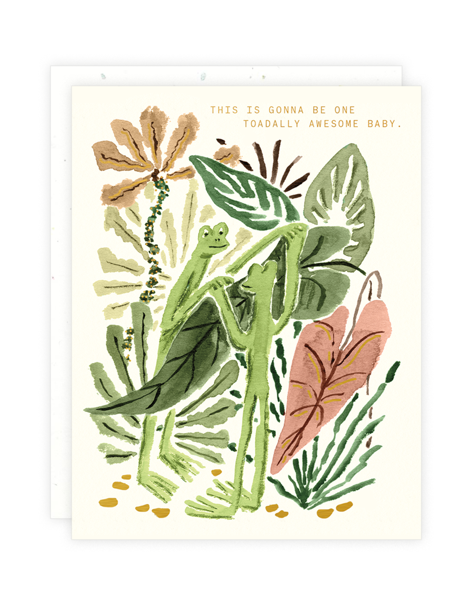 One Toadally Awesome Baby Greeting Card