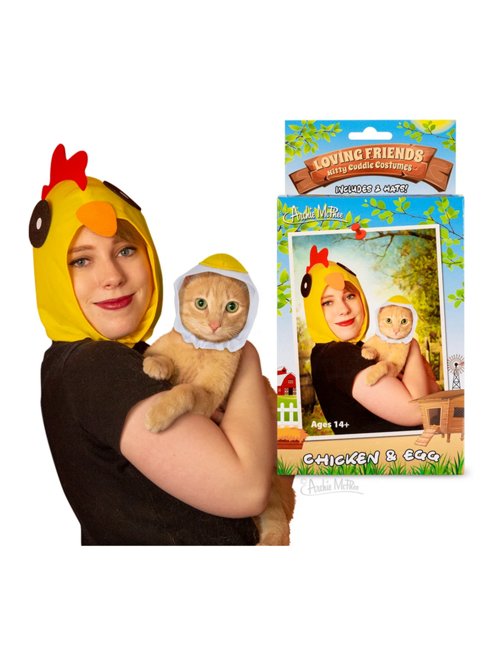 Kitty Cuddle Costume : Chicken and Egg