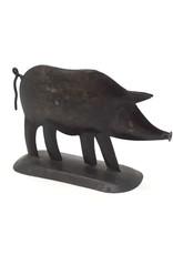 Rustic Metal Pig