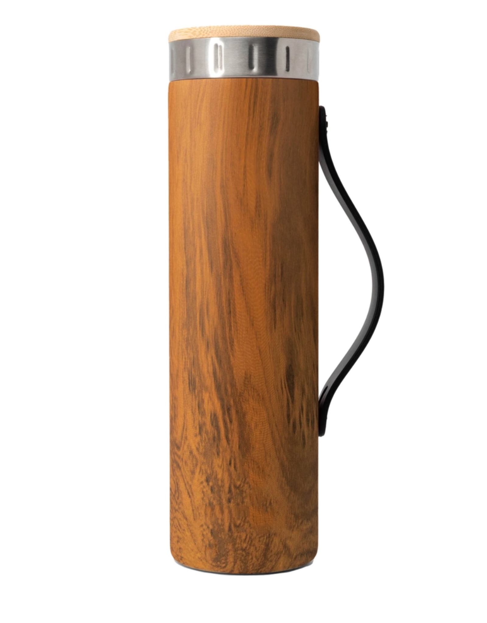 Teak Wood Water Bottle with Strap - 20 oz