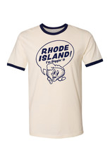 Rhode Island! I'm Diggin' It Clancy Ringer T-Shirt (U-M) - Seconds Sale