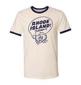 Rhode Island! I'm Diggin' It Clancy Ringer T-Shirt (U-XXL) - Seconds Sale