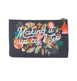 Superbloom Small Linen Cosmetic Bag
