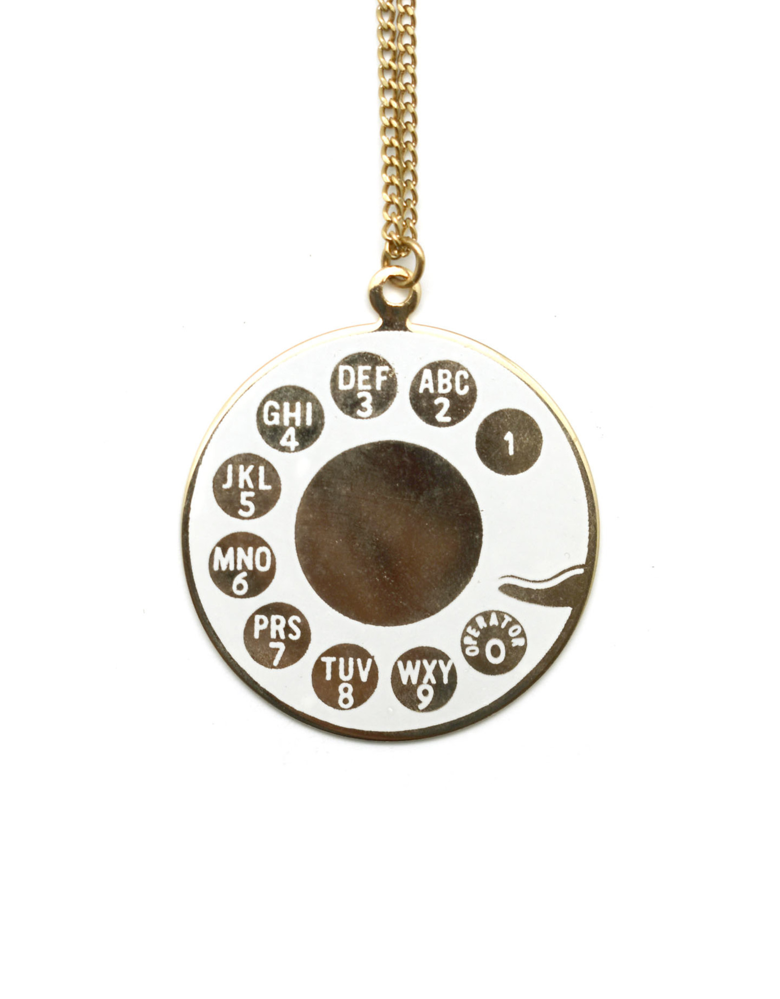 Vintage Telephone Rotary Dial Necklace