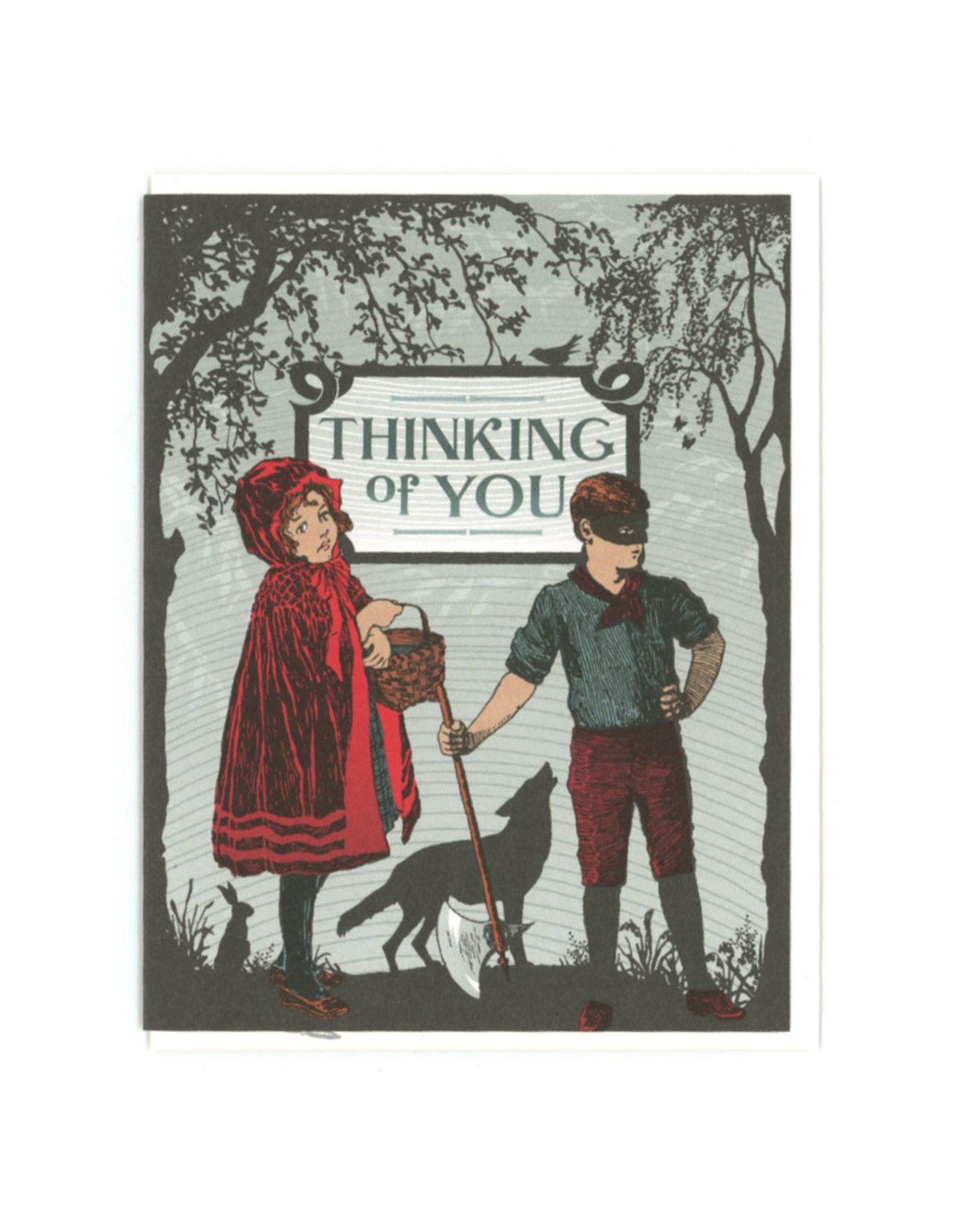 Thinking of You Red Riding Hoods Greeting Card