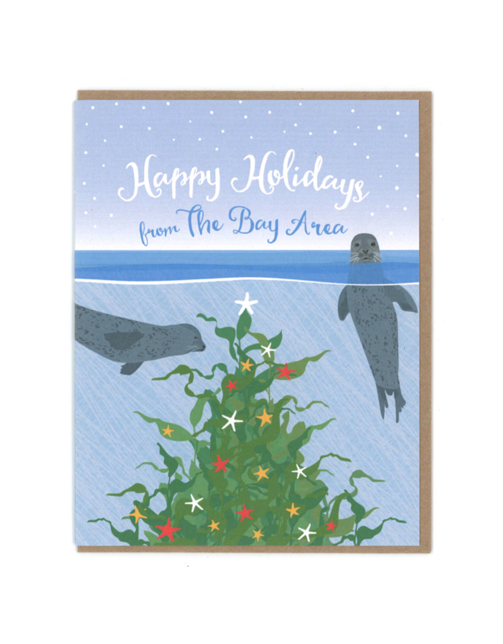 Happy Holidays from The Bay Area Greeting Card - Seconds Sale