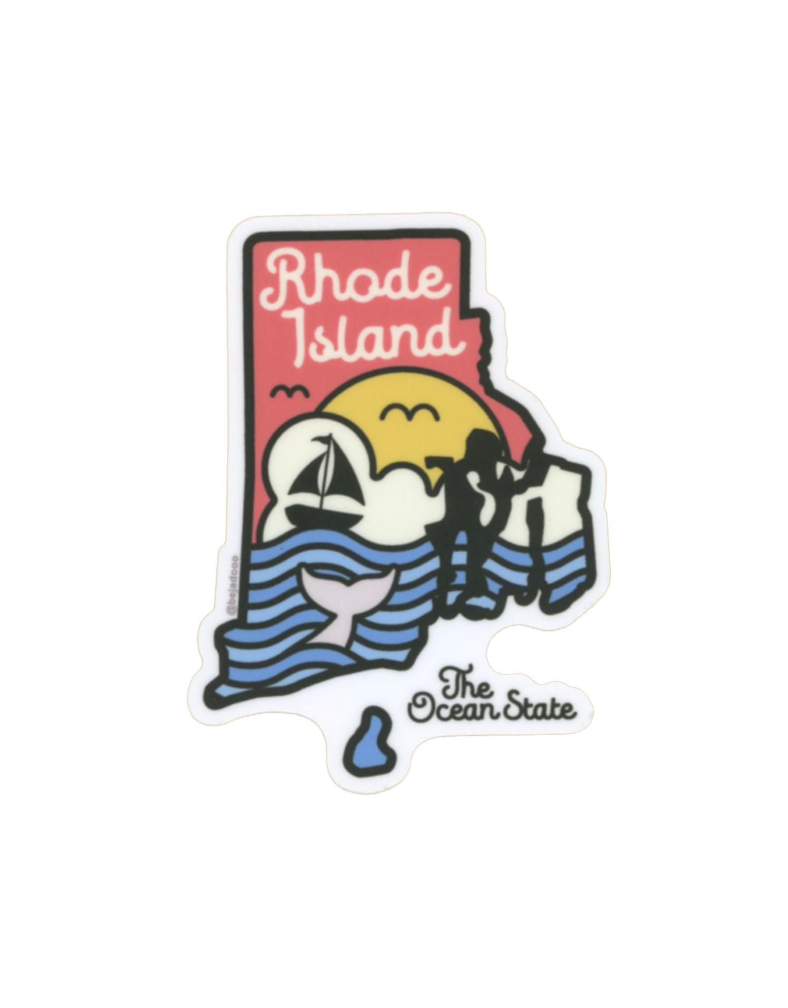Rhode Island By Day Sticker