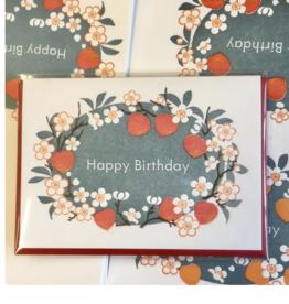 Happy Birthday (Peach Blossom) Greeting Card
