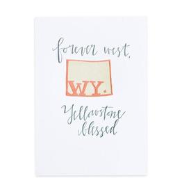 Wyoming Letterpress Print