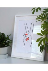 Peace Hand Letterpress Print