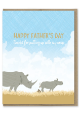 Putting Up with Crap Father's Day Greeting Card