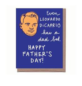 Even Leonardo DiCaprio Has a Dad Bod Greeting Card
