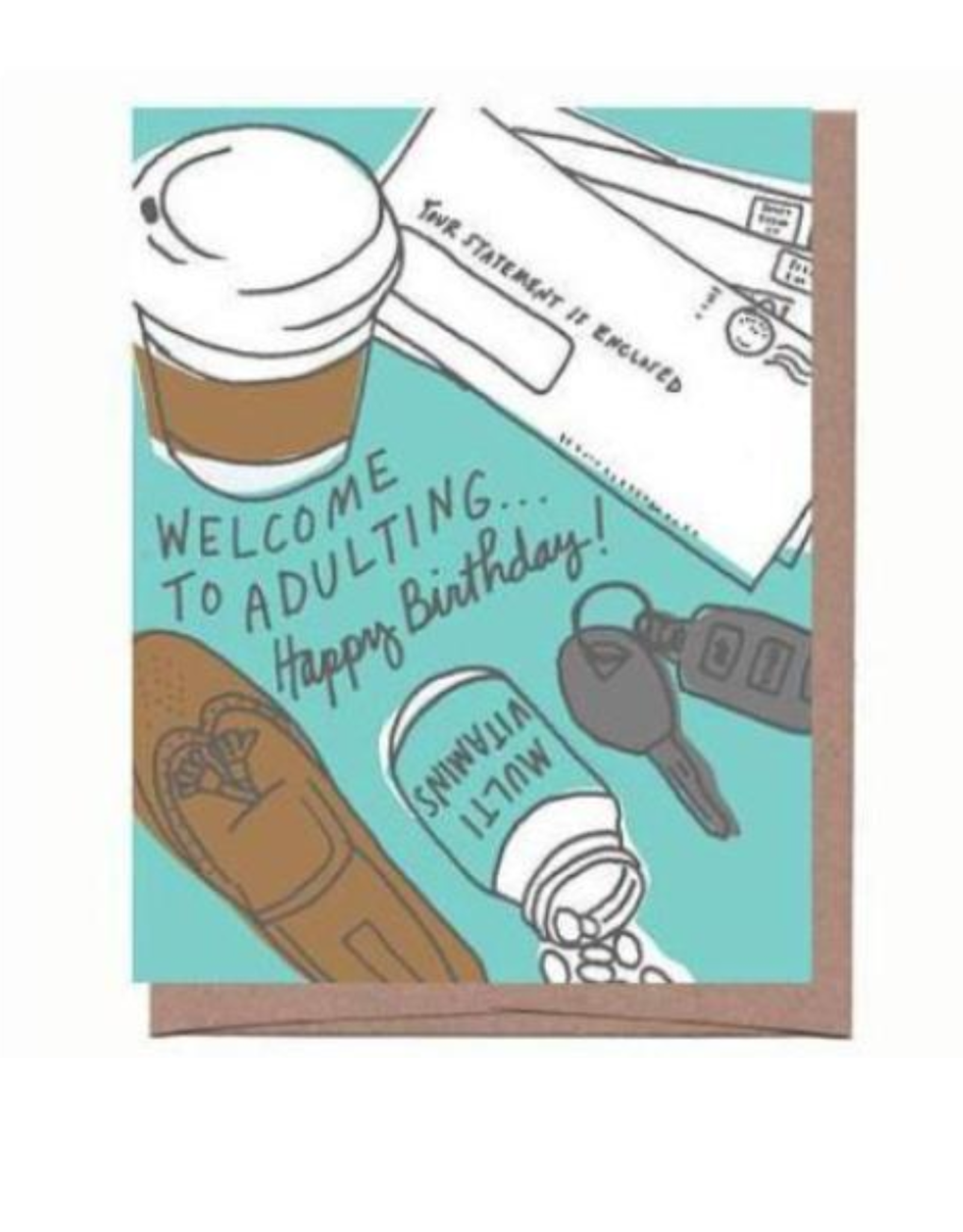 Adulting Birthday Greeting Card