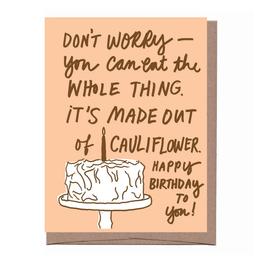 Cauliflower Cake Birthday Greeting Card