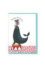 Happy Birthday (Seal) Greeting Card