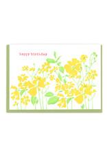Happy Birthday (Yellow Flowers) Greeting Card