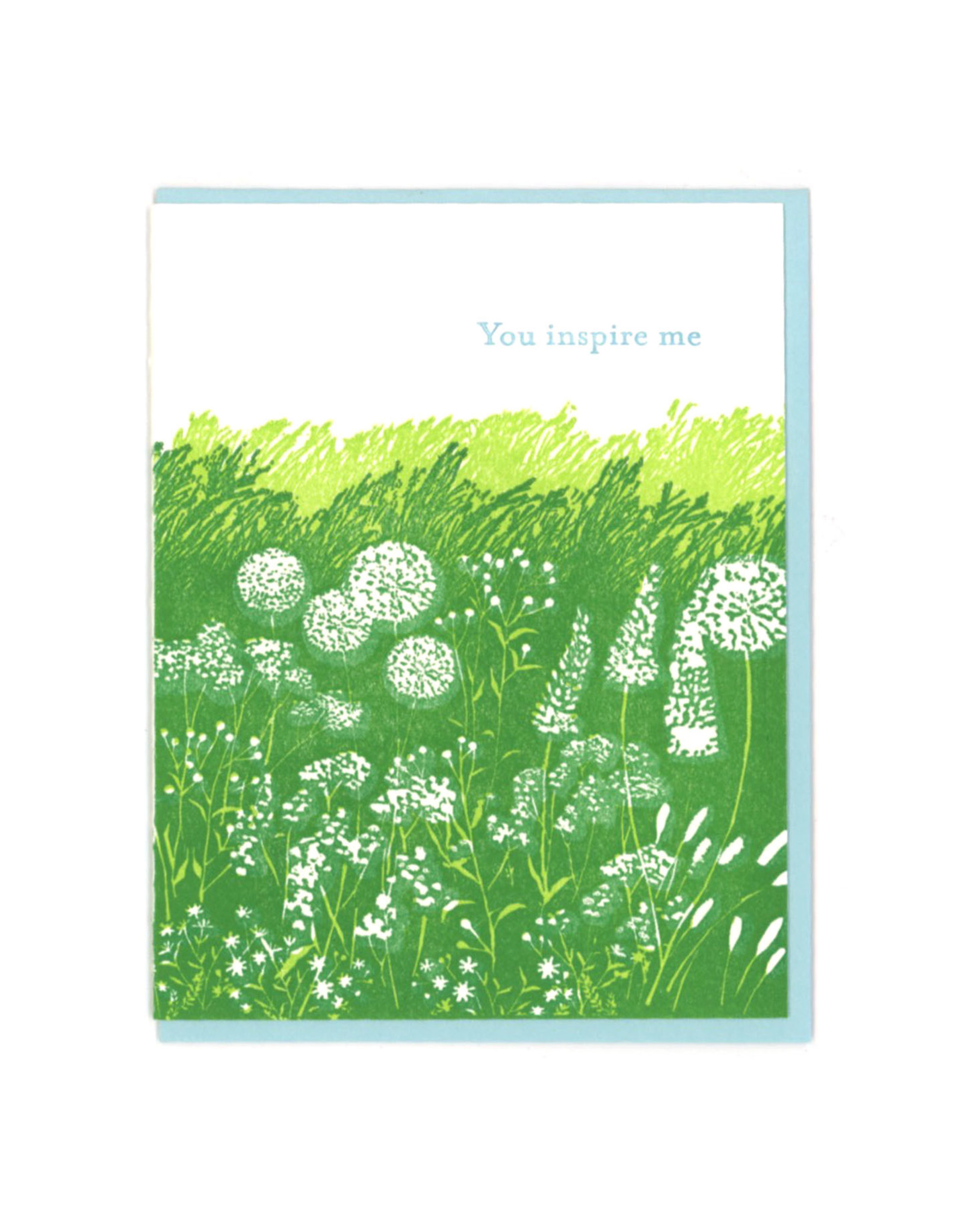You Inspire Me Meadow Greeting Card